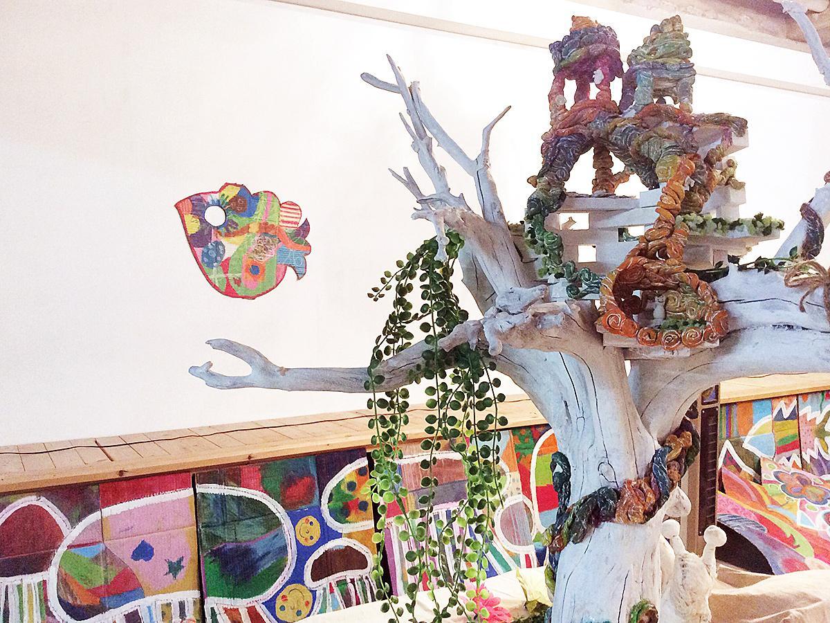 time spotでは猫沢さんの立体造形作品も展示
