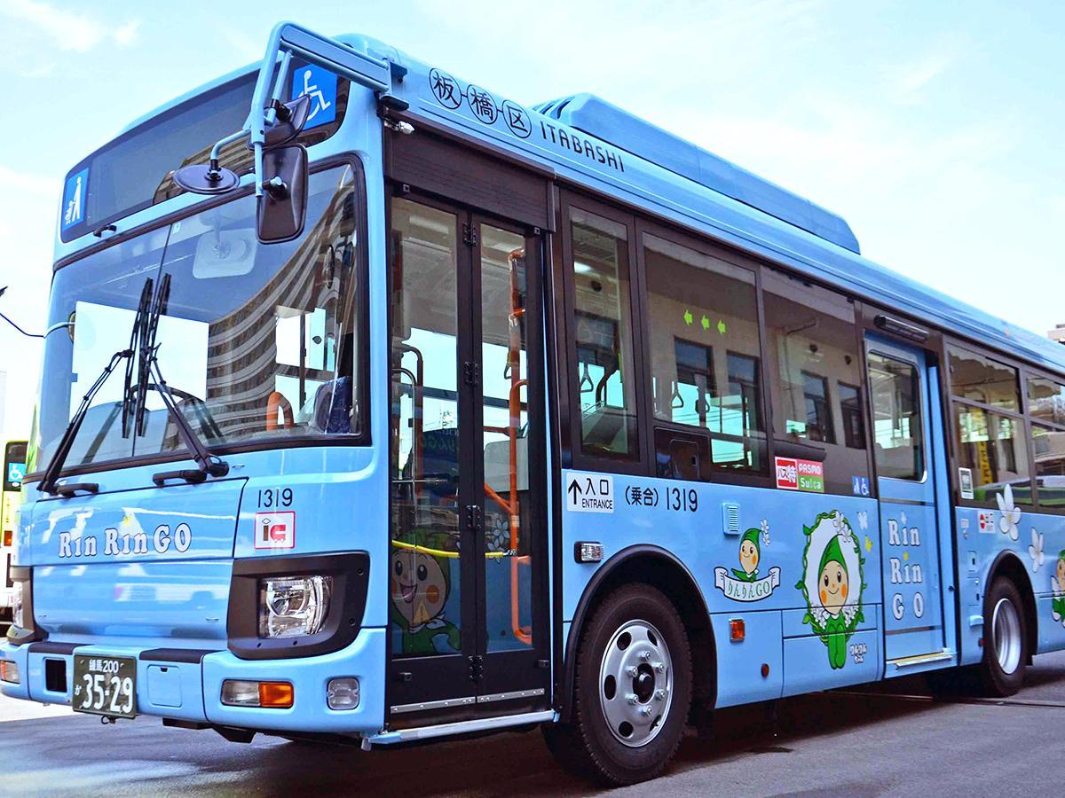中型バスになり、新デザインとなった「りんりんGO」
