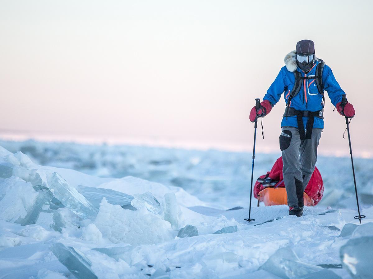 「厳冬期北海道400キロメートル徒歩」の旅を発表した阿部雅龍さん