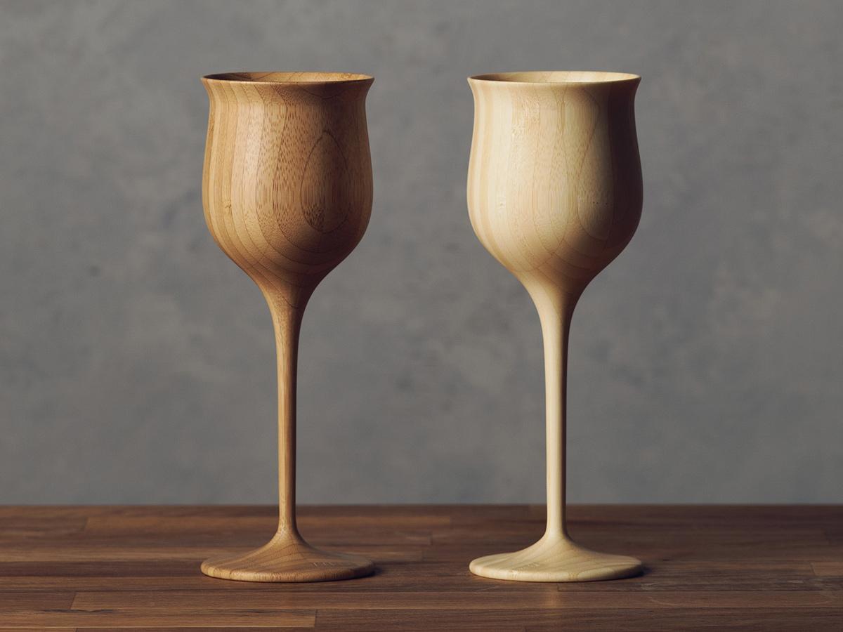 昨年12月に「海外展開ハイウェイ賞」を受賞した天然素材のワイングラス