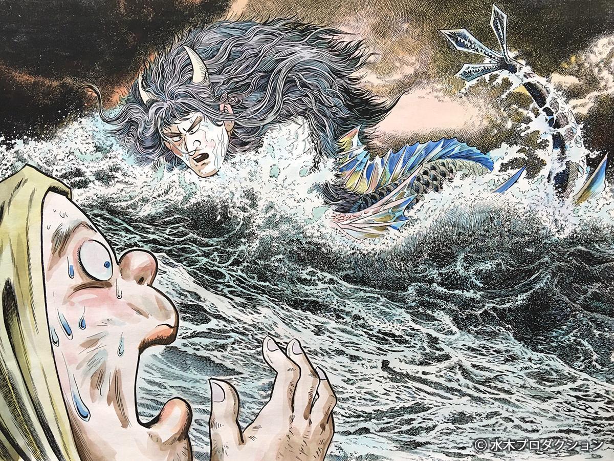 故・水木しげるさんによる「神社姫」 ©水木プロ