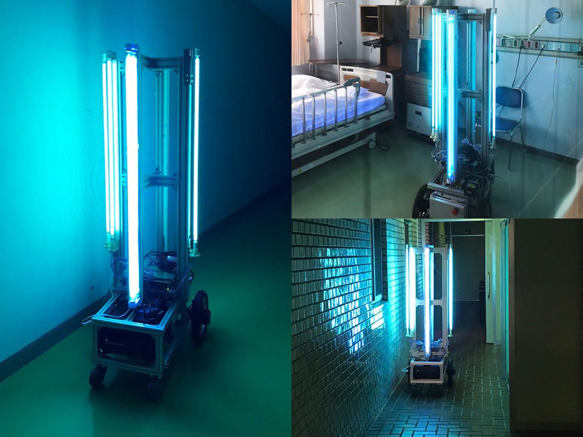 産学官連携で開発、実証実験を行ったファームロイド製「UVバスター」