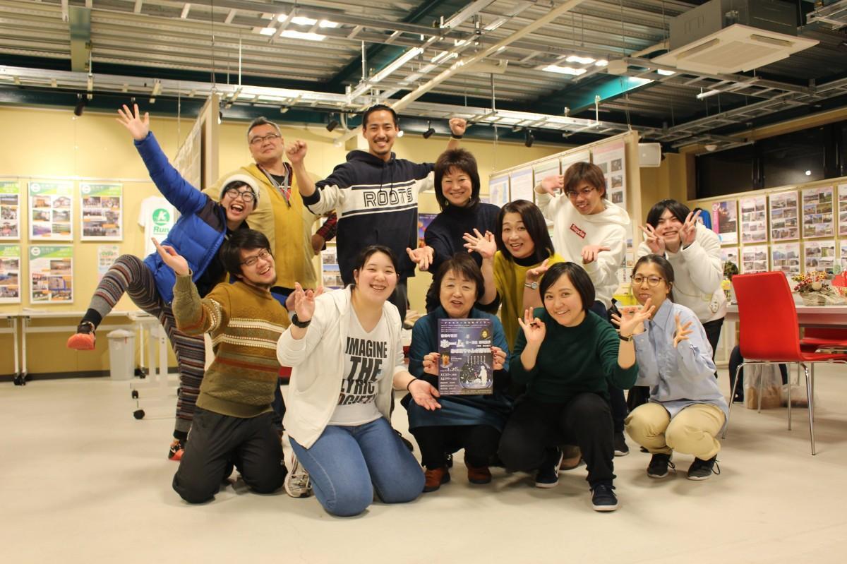 富岡町民劇「ホーム」の出演者たち