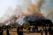 伊東の大室山で伝統行事「山焼き」開催 春の訪れ、目の前に