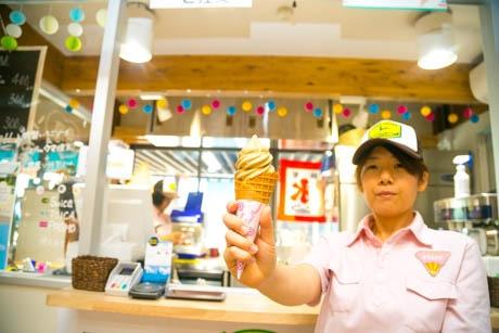 丹那コーヒーソフトクリーム(道の駅「伊豆ゲートウェイ函南」にて)