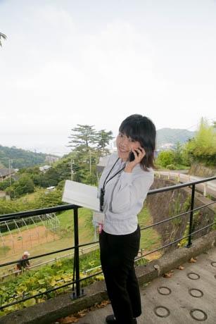 熱海の別荘地で活躍する池田さん