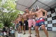 三島・楽寿園で「肉とビールの祭典」 4000人が来場、筋肉自慢コンテストも