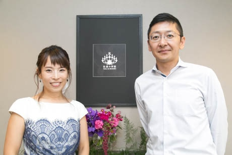 Salon de SHACHO内での野田さんと木村さん