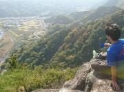 修善寺・城山でラペリング体験 崖の上からの「コーヒー体験」も