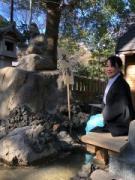 熱海の今宮神社に足湯登場 えびす像にちなみ「ご利益」も