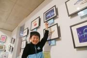 沼津の道の駅で鈴木翔太くん深海魚絵画展 新作20点ズラリ