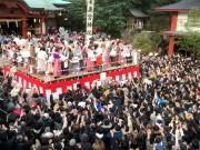 熱海・来宮神社で節分祭 境内に「福」求め参拝者800人超集まる