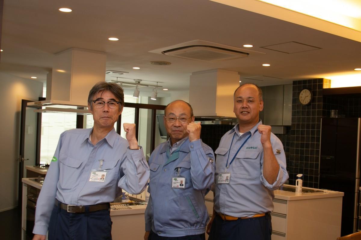 「熱海で一緒に働いてみないか?」とアピールする熱海ガスの北村社長(中央)