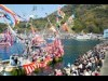 沼津で「大瀬まつり」 白塗り女装姿の男性漁師が海上安全と豊漁祈願