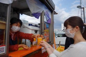 沼津港に「寿太郎みかん」生ジュース店 「子どもが笑顔になるジュース届けたい」