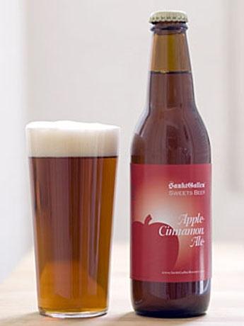 スイーツビールバーで提供するフルーツビール「アップルシナモンエール」はアップルパイのような風味が楽しめる