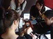 「丑」のデザインカプチーノで年賀状-駒沢のバールでカプチーノ講座