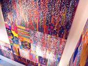 自由が丘のギャラリーで「美」テーマの抽象画展-ライブプリンティングも