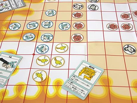 各自プレーヤーが腸内細菌の一つとなり、腸内での繁栄を目指して対戦するボードゲーム「バクテロイゴ」