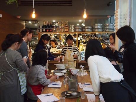 自由が丘「also Soup Stock Tokyo」で開講した「おいしい教室 暮らしのじかん」の様子
