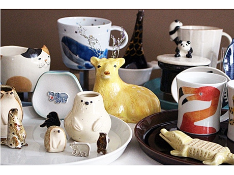自由が丘の日本製雑貨セレクト店でユーモラスな「アニマル陶器市」