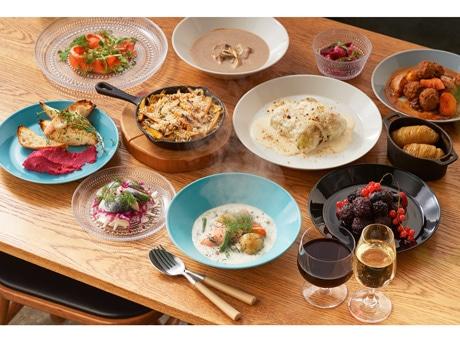 北欧料理をベースにした「also Soup Stock Tokyo」オリジナルメニュー(一部)