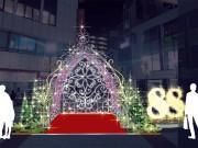自由が丘駅前でクリスマスイルミ点灯式 駅88周年イルミも