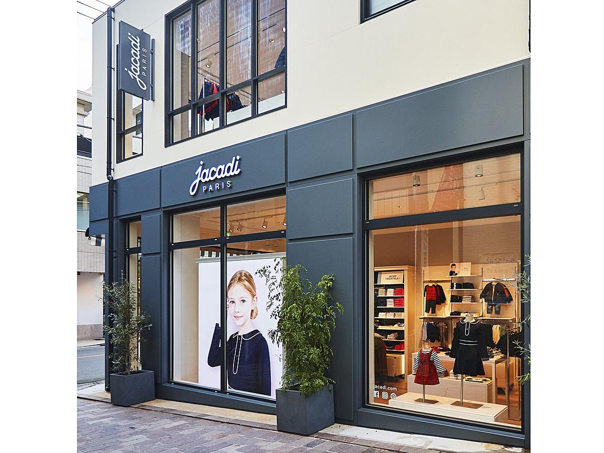 仏パリ発の子ども服ブランド「ジャカディ」の日本1号店「ジャカディ 自由が丘店」店舗外観