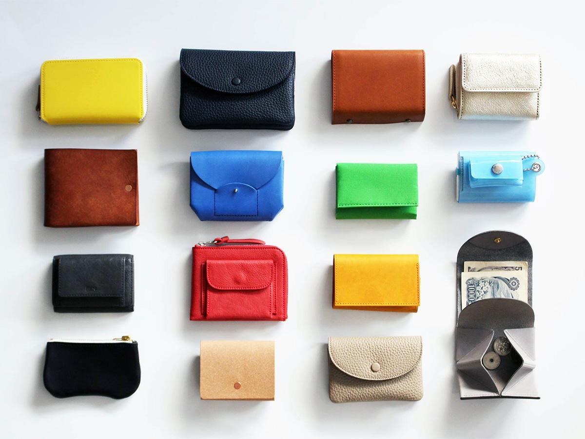 手のひらに収まる「ミニ財布」を多数取りそろえた「小さなお財布展」