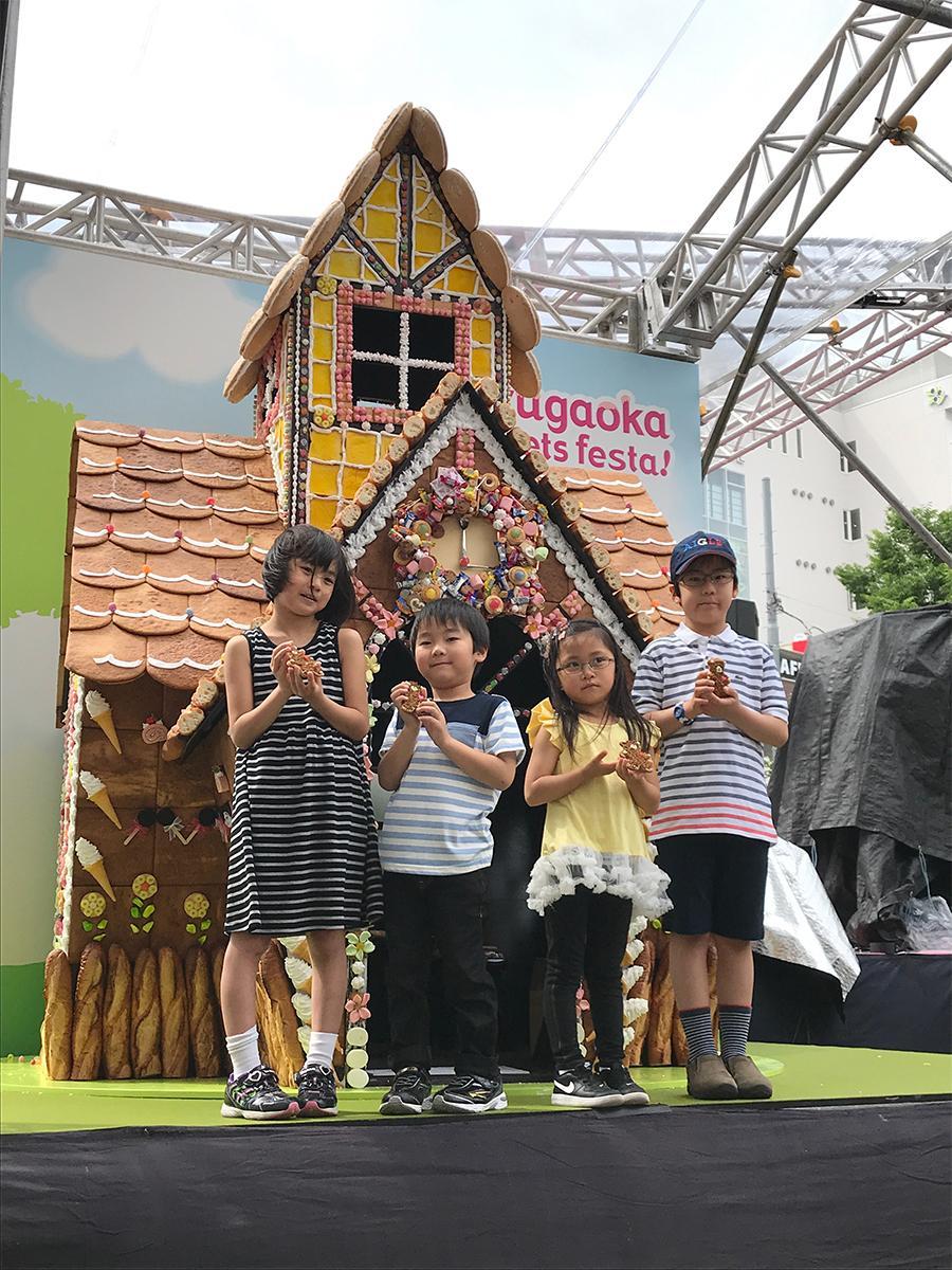 自由が丘の春恒例スイーツイベント「Jiyugaoka Sweets festa! 」に登場する、本物の「お菓子の家」。写真は昨年制作されたもの。