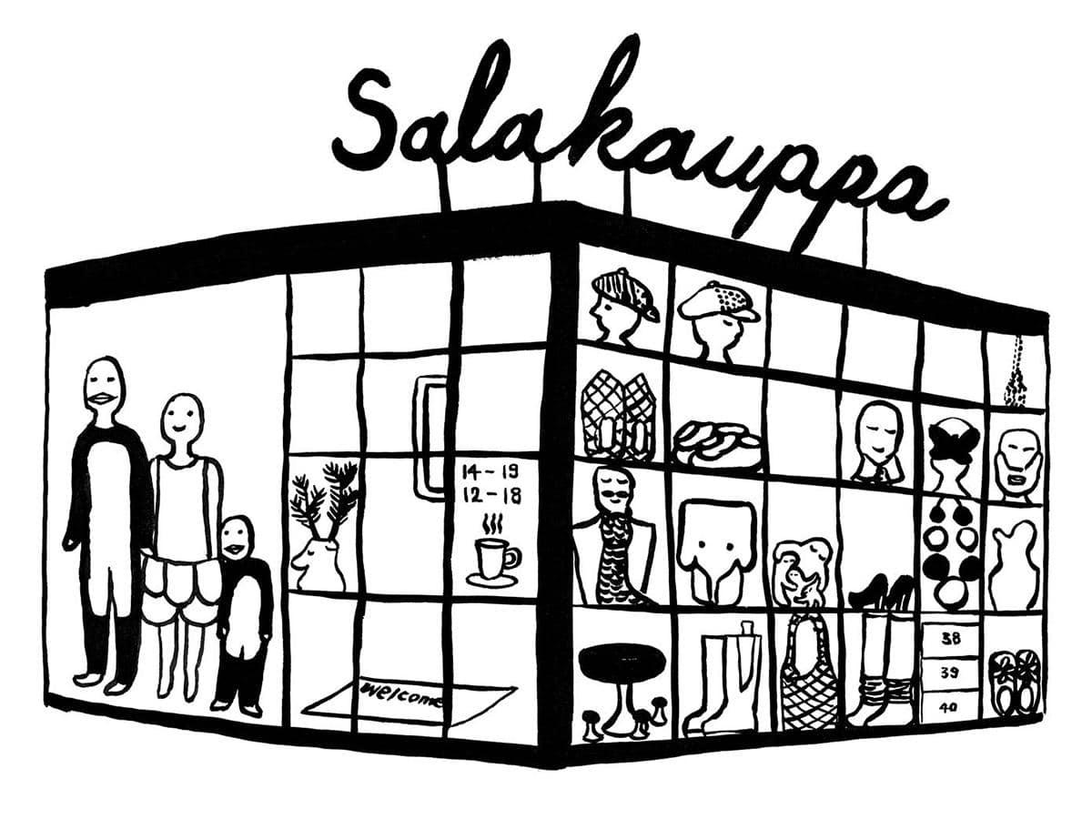 デザインユニット「COMPANY」がフィンランド・ヘルシンキ市内で経営するショップ「Salakauppa(サラカウッパ)」のイメージ