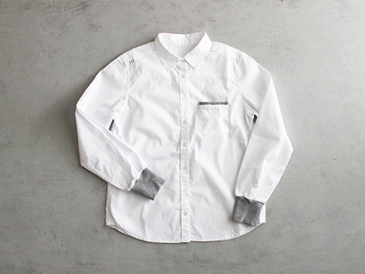 ワークシャツブランド「motone」のラインアップから「メンズスタンダードシャツ 白×灰」