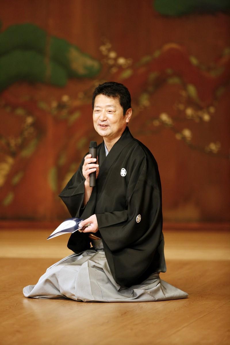 「伝統文化『狂言』に親しむ」で講師を務める、狂言師で重要無形文化財総合認定保持者の石田幸雄さん