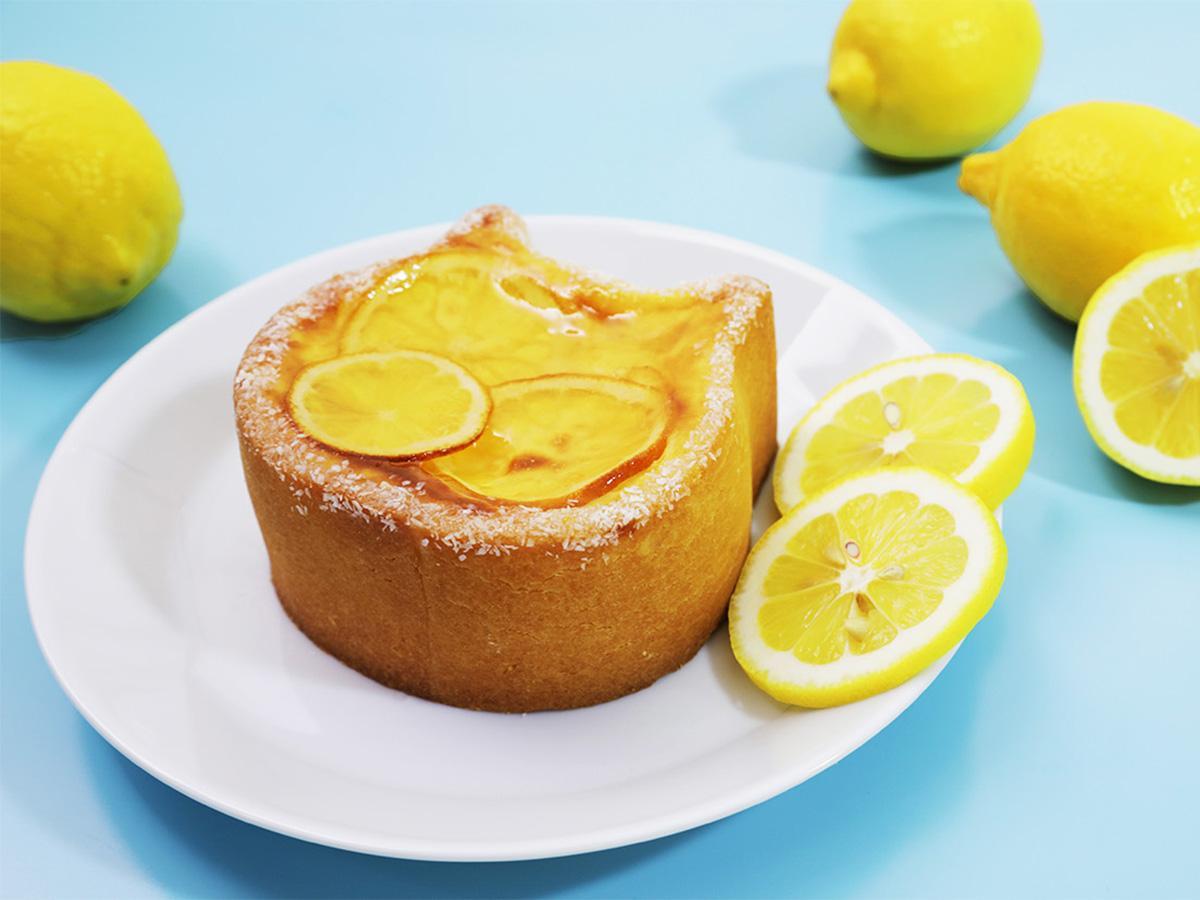 夏らしいチーズケーキに仕上げた「ねこねこチーズケーキ~瀬戸内レモン~」