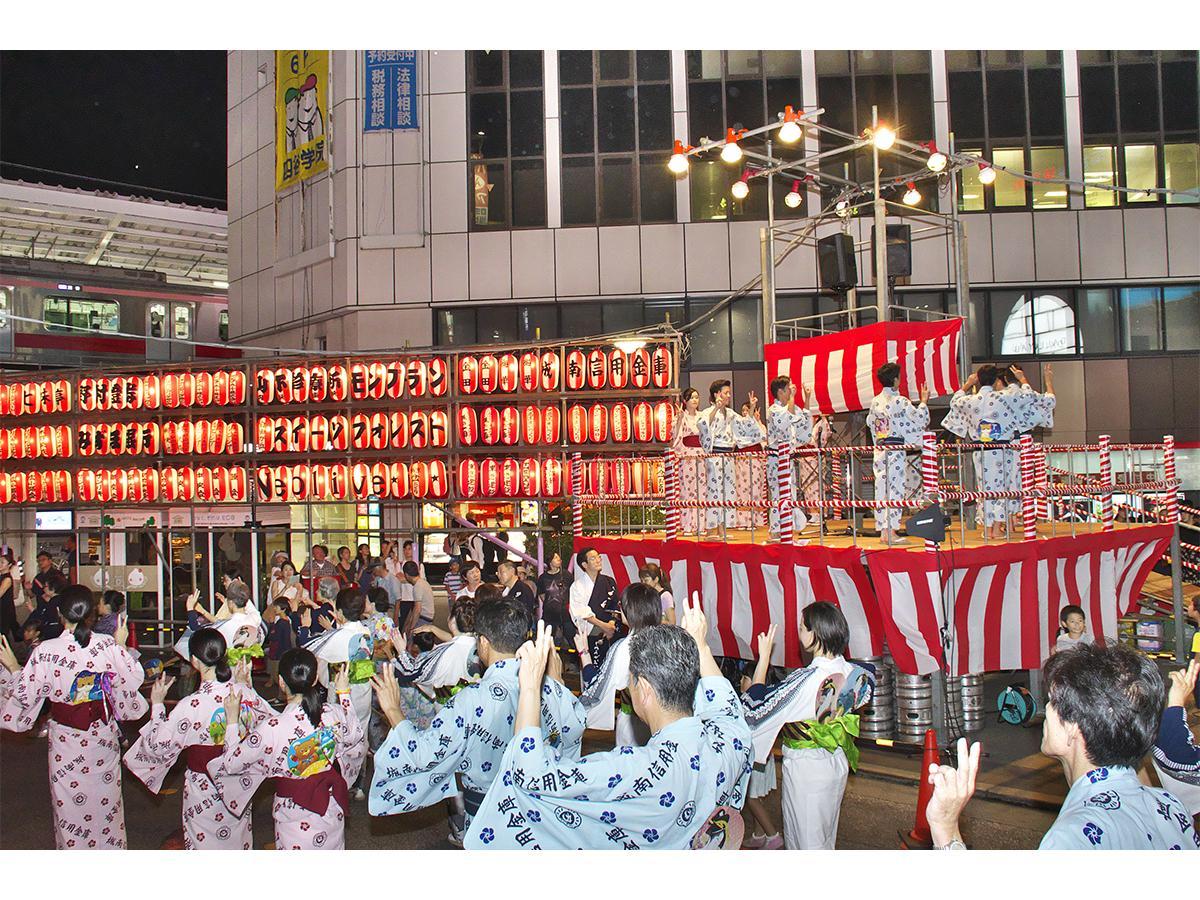 例年、自由が丘駅前で開催されている「自由が丘納涼盆踊り大会」(写真は昨年の様子)