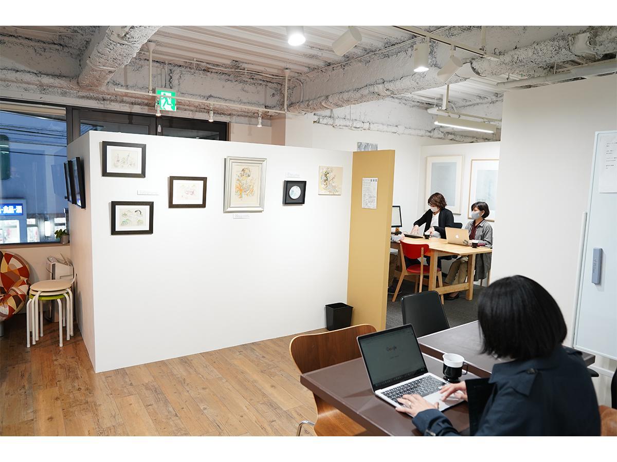 コワーキングスペース「シンクーカン」の拠点の一つ、アートギャラリー併設スペース「Art Garage(アートガレージ)」