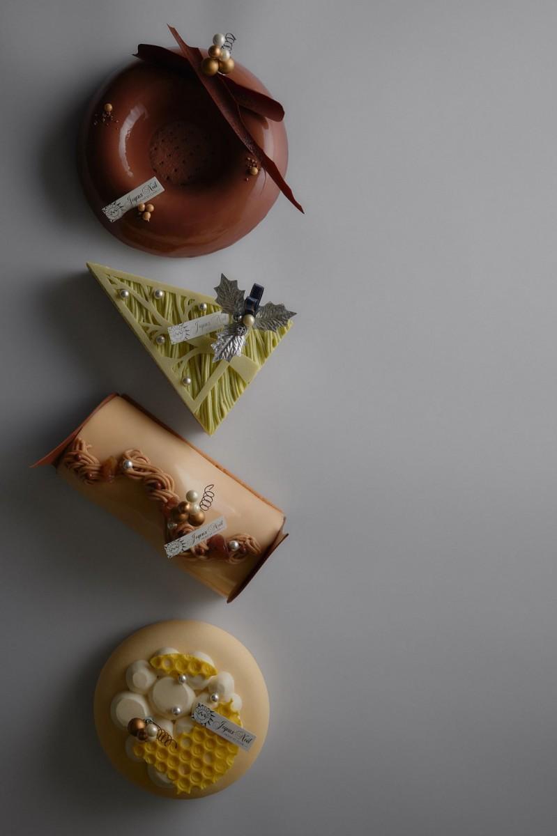 「モンサンクレール クリスマスコレクション2020」の新作は(写真上から)「フェルム」「サパンピスターシュ」「ヴィアレッタ」「ラヴェンデル」の4種類