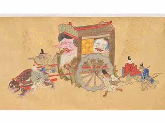 妖怪たちが練り歩く説話を描いた「百鬼夜行絵巻」湯本豪一記念館(三次もののけミュージアム)蔵