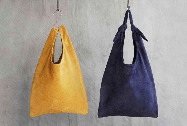 TOKYO LEATHER FACTORYの洗えるスエードレザーシリーズから、買い物袋型のレザーバッグ「ショッピングバッグ」