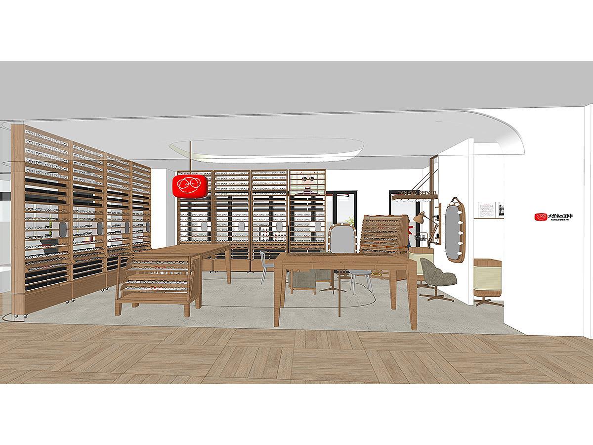 東急スクエア ガーデンサイトに出店する「メガネの田中 田園調布店」外観イメージ