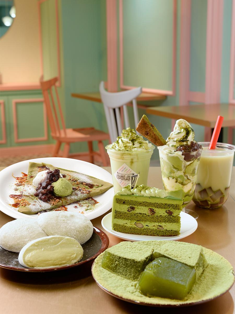 「新緑のスイーツ・ジャポネ~抹茶の巻~」で提供する和洋スイーツ
