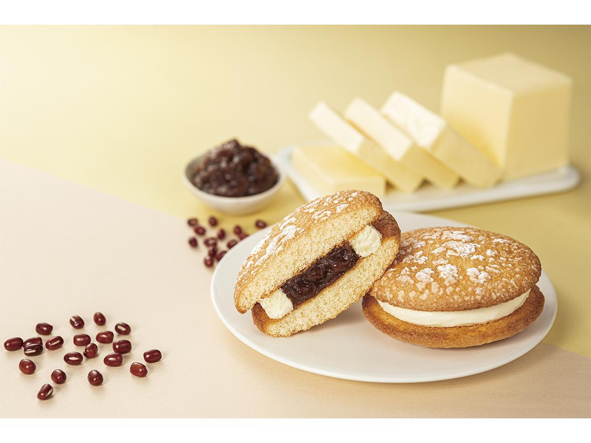 粒あんとバタークリームを組み合わせた「ナボナ」の新商品「北海道ナボナ あんとバター」