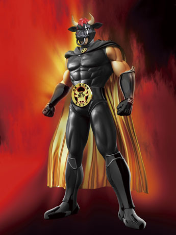 鹿児島黒牛のキャラクター「ギュージンガー・ブラック」がフィギュアに。