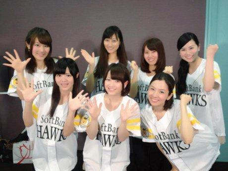 鹿児島県立鴨池野球場で5月11日、福岡ソフトバンクホークス対埼玉西武ライオンズのプロ野球公式戦が開催される。写真はセレモニーでライブを披露するご当地アイドルの「セブンカラーズ」