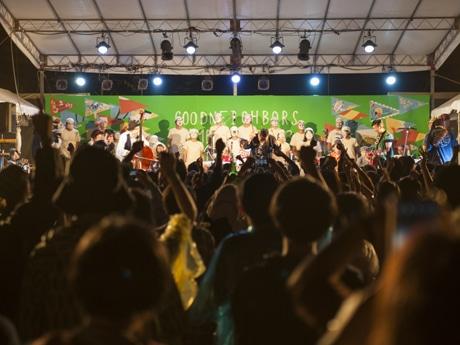 今年も南九州市川辺町の廃校跡で、夏の野外フェスが開催される。
