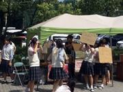 樟南高校でマルシェイベント OB企業から販売学び地域活性