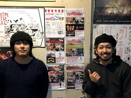 人性補欠の桑原田健史さん(左)とBACKSKiD(バックスキッド)のSHIMONさん(右)