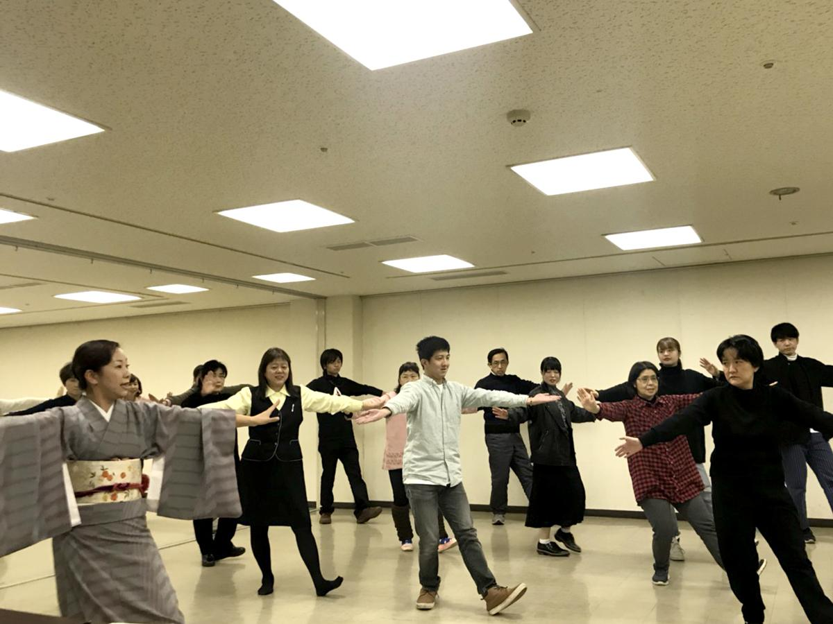 踊りの練習の様子