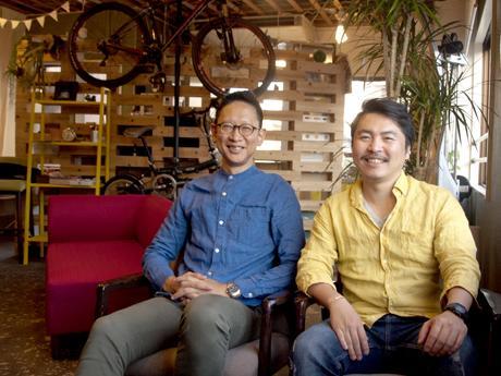「CK不動産」宅地建物取引士・代表久保さん(右)とご縁作り係・下川さん(左)