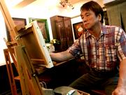 鹿児島「小料理舞」で画家・有馬広文さん個展